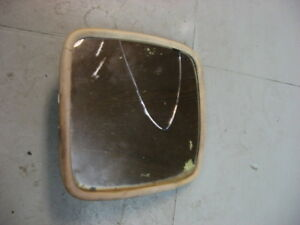 Used Vintage Rv Truck Side Mirror Head Ivory Color 6 1 4 X 6 1 2 Square Shape