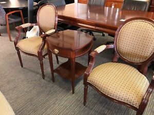 3 Piece Lobby Set End Table By Baker Furniture 2 Chairs By Councill