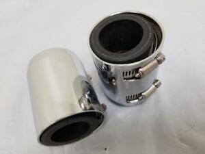 Chrome Radiator Hose End Caps W Clamps And Reducers Pair End Cap Display Sale