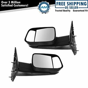Mirror Manual Towing Side View Lh Rh Pair For Dodge Ram Truck 1500 2500