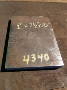 4340 Alloy Steel Plate 1 X 7 1 2 X 10 Machine Stock