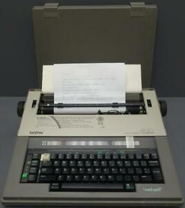 Brother Electronic Portable Typewriter Ax 20 word spell