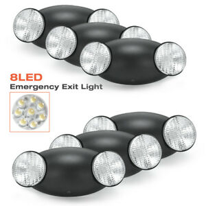 6pack black Emergency Exit Bug Eye Light Standard Led Spot Light W Side Lights