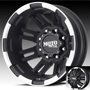 17 Inch Black Wheels Rims Dodge Ram 3500 Chevy Silverado Ford F350 Dually 8x6 5