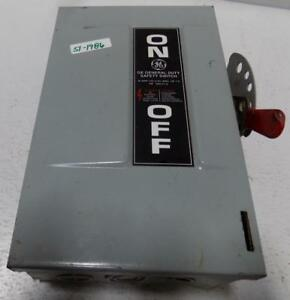 General Electric Safety Switch Tg4321 Model 8