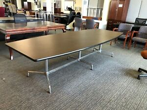 10 Conference Table By Herman Miller Eames W walnut Top Chrome Base Pick Up