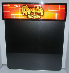 Kahlua Black Russian Heritage Sign Display Lighted Dry Erase Menu Advertising
