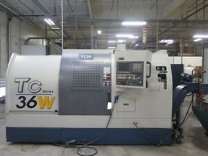 Ycm Tc 36w Cnc Lathe Turning Center Fanuc Txp 200e Control Low Hours Nice 2007