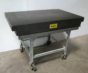 Doall Granite Plate Surface Inspection Table 48 X 30 X 6 With Stand