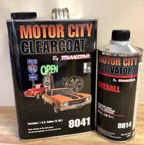 Motor City Clearcoat 8041 With Activator 8014 By Transtar
