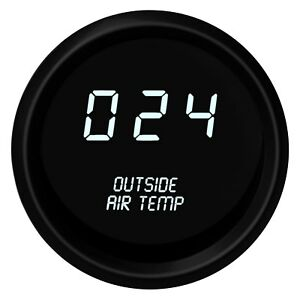 Intellitronix M9123w White Led Digital Outside Air Temperature Gauge