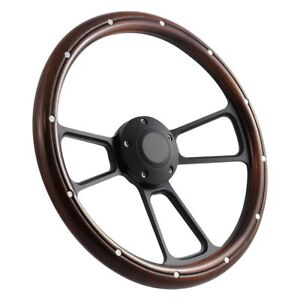 Forever Sharp 3 spoke Muscle Steering Wheel W Half Wrap Aluminum Rivets
