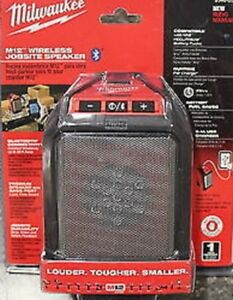 Milwaukee 2592 20 M12 Wireless Jobsite Speaker Tool Only