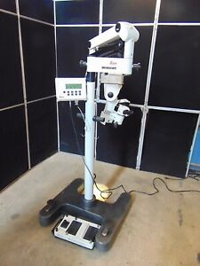 Leica M840 Eye Surgical Microscope Passes Self Tests Lights Come On S3211