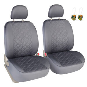 Pair Of Car Front Seat Covers Low Back Seat Protector Gray Universal For Truck