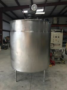 800 Gallon Stainless Steel Food Grade Jacketed Processor With Sweep Mixing Unit