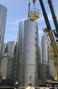30 000 Gallon Ss Feldmeier Stainless Steel Refrigerated Vertical Silo tank