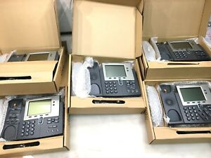 Lot Of 5 Cisco 7940g Color Gigabit Unified Voip Phone Cp 7940g Brand New
