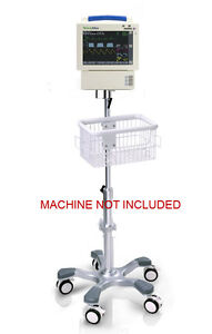 Rolling Stand For Welch Allyn Propaq Cs Monitor W bottom Module big Wheel