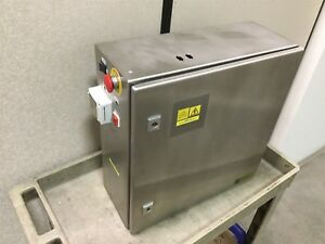 Rittal Ae1007 Electrical Enclosure 500mm X 500mm X 210mm Stainless Steel