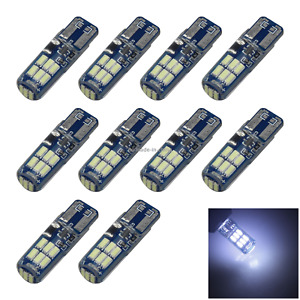 10x White Rv T10 W5w Corner Light Reading Bulb Strobe 15 4014 Smd Led Z2806
