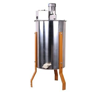 Electric 3 Frame Stainless Manual Bee Honey Extractor Honeycomb Drum Beekeeping