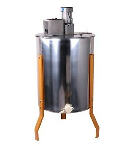 Electric 4 Frame Stainless Manual Bee Honey Extractor Honeycomb Drum Beekeeping