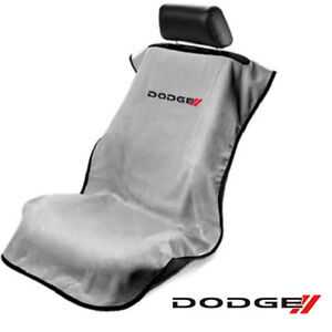 Seat Armour Sa100ndodg Gray Seat Protector Towel Cover With New Dodge Logo