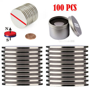 100 Pcs Magnetics Grade N52 Powerful Rare Earth Neodymium Disc Magnets 1 26