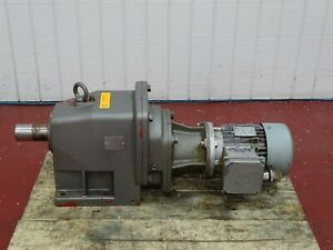 Nord 80 S 4 Electric Motor 75hp 60hz 230 460v W Reducer