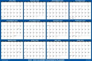 2019 2020 Academic Wall Calendar Yearly Planner Dry Erase Laminated Xxl 48x72