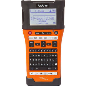 Brother Industrial Wireless Handheld Labeling Tool W Auto Strip Cutter Pt e55