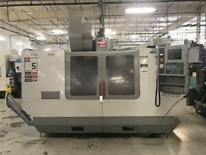 2004 Haas Vf 5b 40 Cnc Vertical Machining Center Vop c 10 000 Rpm 30 Hp 4th Axis