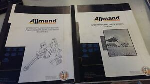Allmand Tractor Loader Backhoe Operator And Parts Manual not A Copy