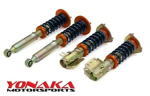 Yonaka For Nissan 95 98 240sx Adjustable Dampening Coilovers Shocks Struts S14