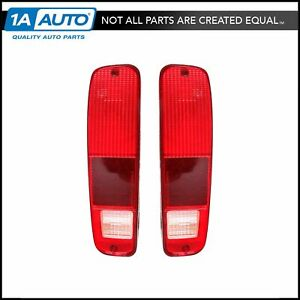 Taillights Lenses Only Pair Set For 74 91 Ford F Series Pickup Truck E Series