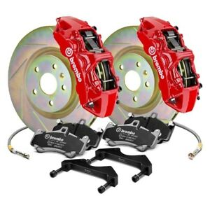 Ford Mustang 05 14 Brembo Gt Series Slotted 1 piece Rotor Front Big Brake Kit