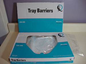 2 Boxes Of 800 Quala Protective Dental Tray Cover Disposable Barrier Film Clear