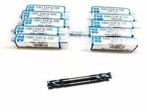 lot Of 10 1 4 Osg Carbide Tialn 4 Flute Double End Mill q 560