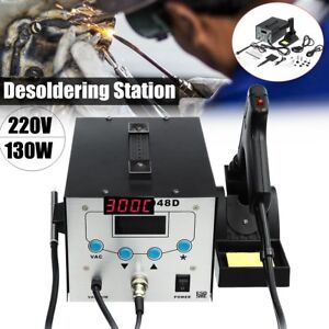 220v 130w Soldering Iron Hot Air Rework Station Desoldering Repair Electric Weld