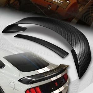 For 2015 2019 Ford Mustang Gt350r Style Real Carbon Fiber Rear Trunk Spoiler