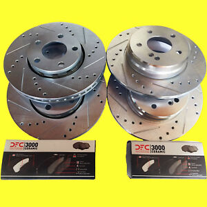Fits Nissan Nx Coupe 2 0l Abs Se W o Abs 91 93 Brake Rotors Ceramic Pads F r