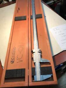 Starrett 0 48 Vernier Caliper Model No 123z 48 Hardened Steel With Wood Case