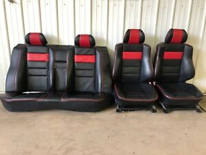 1993 Mercedes benz W201 190e Le Sportline Black And Red Front And Rear Seats Oem