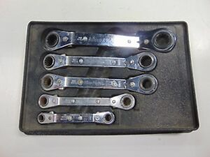 Blue Point 5 Piece Metric Ratcheting Offset Box Wrench Set 7mm 17mm Rbyam605