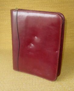Classic 1 5 Gold Rings Burgundy Leather Franklin Covey Planner binder Leader