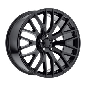 Set 4 20x10 48 5x114 3 Mustang Performance Black Wheels rims 20 Inch 48298