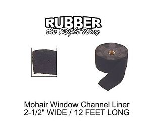 1930 1960 Buick Window Channel Mohair Liner 12 Long 2 1 2 Wide