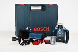 Used Clean Bosch Grl 300hv Professional Rotary Laser Level Set W case No Lr30