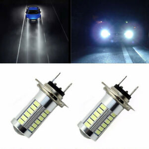H7 5630 33 Led Fog Drl Driving Car Head Light Lamp Bulb White Super Bright